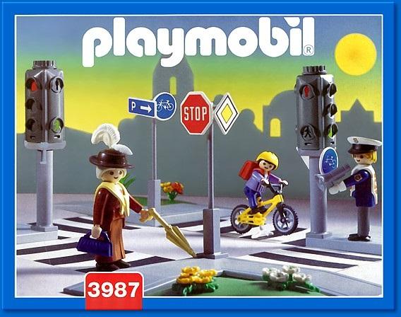 art playmobil vie en ville  pietons signalisations carrefour