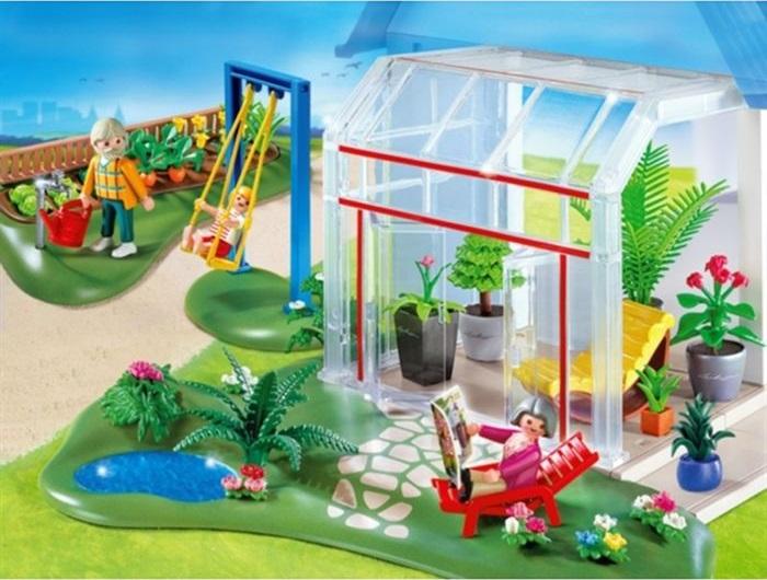 Jouet playmobil maison 4281 v randa et jardin neuf pas cher - Veranda ou uitbreiding ...