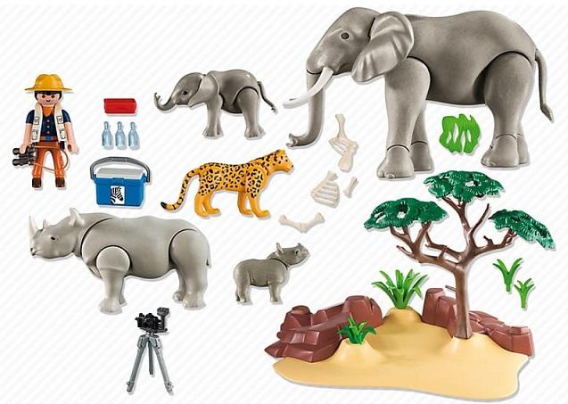 Jouet playmobil 5417 animaux de la savane et photographe - Playmobile savane ...