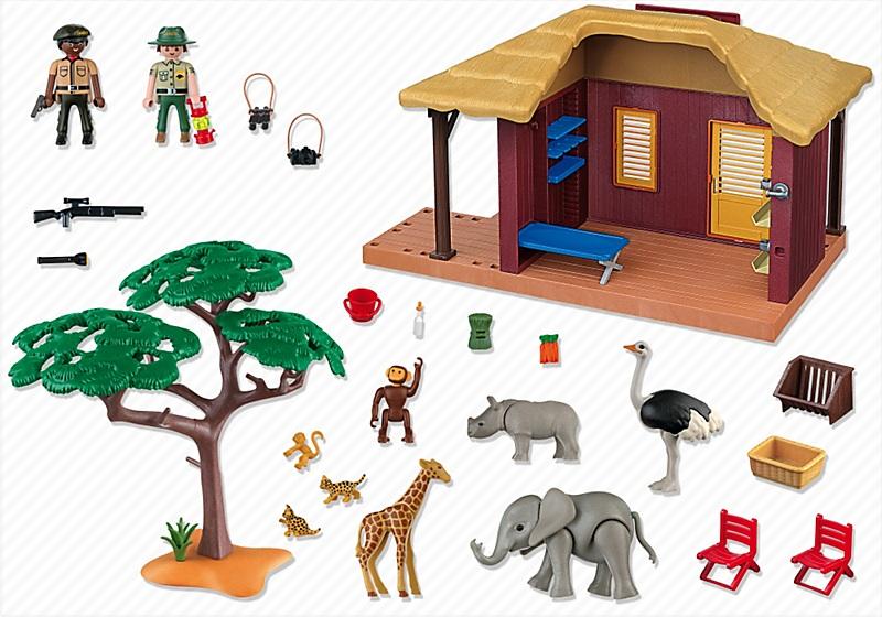 5907 campement des soigneurs avec b b s animaux de playmobil. Black Bedroom Furniture Sets. Home Design Ideas