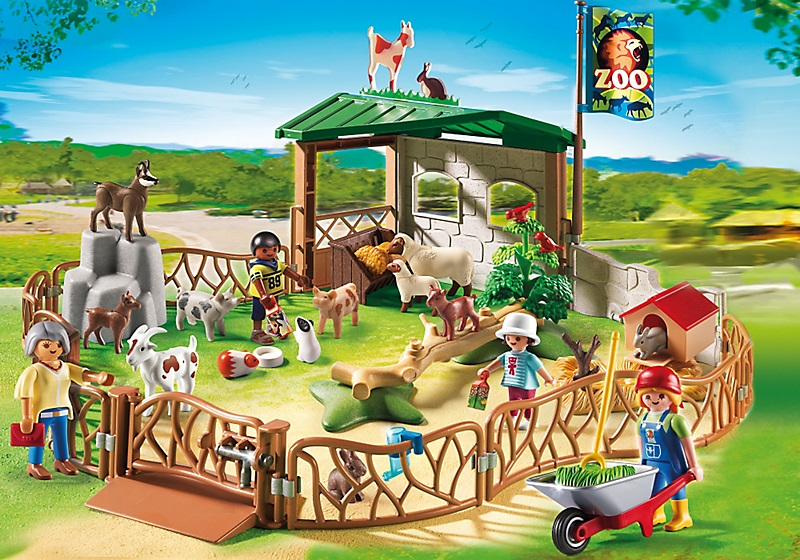 parc animalier avec visiteurs 6635 jouet playmobil zoo. Black Bedroom Furniture Sets. Home Design Ideas