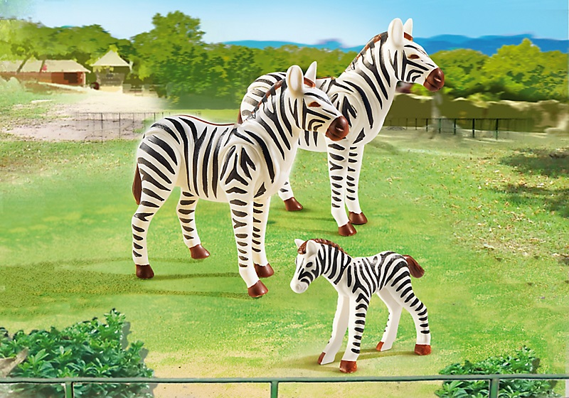 sachet animaux playmobil zoo 6641 famille de z bres. Black Bedroom Furniture Sets. Home Design Ideas