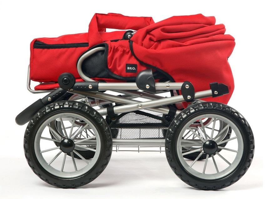 jouet poussette landau 3 en 1 combi rouge poup e brio. Black Bedroom Furniture Sets. Home Design Ideas