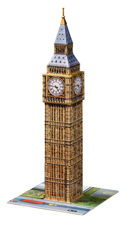 ravensburger 12554 puzzle 3d big ben adulte collection monument 216 pi ces. Black Bedroom Furniture Sets. Home Design Ideas