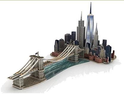 educa 17000 puzzle 3d en bois manhattan dream 160 pi ces. Black Bedroom Furniture Sets. Home Design Ideas