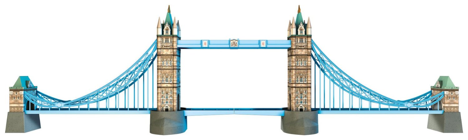 Ravensburger 125293 Puzzle 3d Le Tower Bridge 216 Pièces