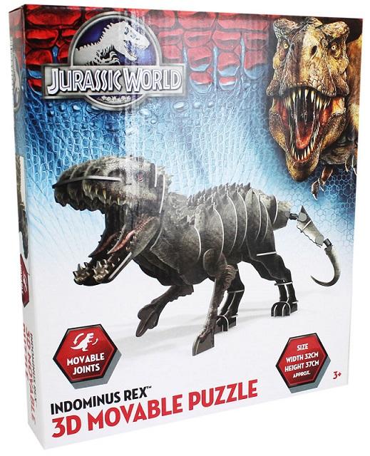 Puzzle dinosaure 3d indiminus rex jurassic world figurine - Dinosaure jurassic world ...