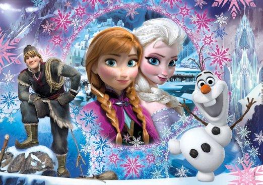 clementoni 27248 puzzle glitter 104 pi ces la reine des neiges. Black Bedroom Furniture Sets. Home Design Ideas