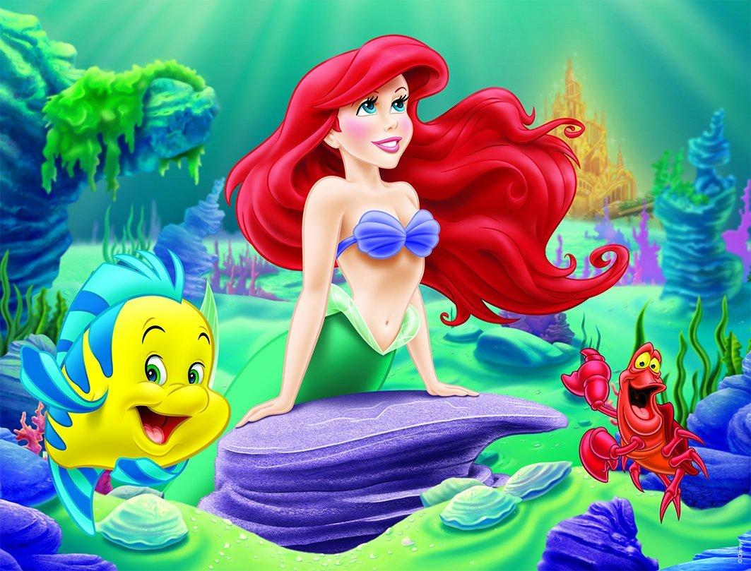 Nathan 86328 ariel et ses amis puzzle 24 pi ces la petite sir ne - Ariel petite sirene ...