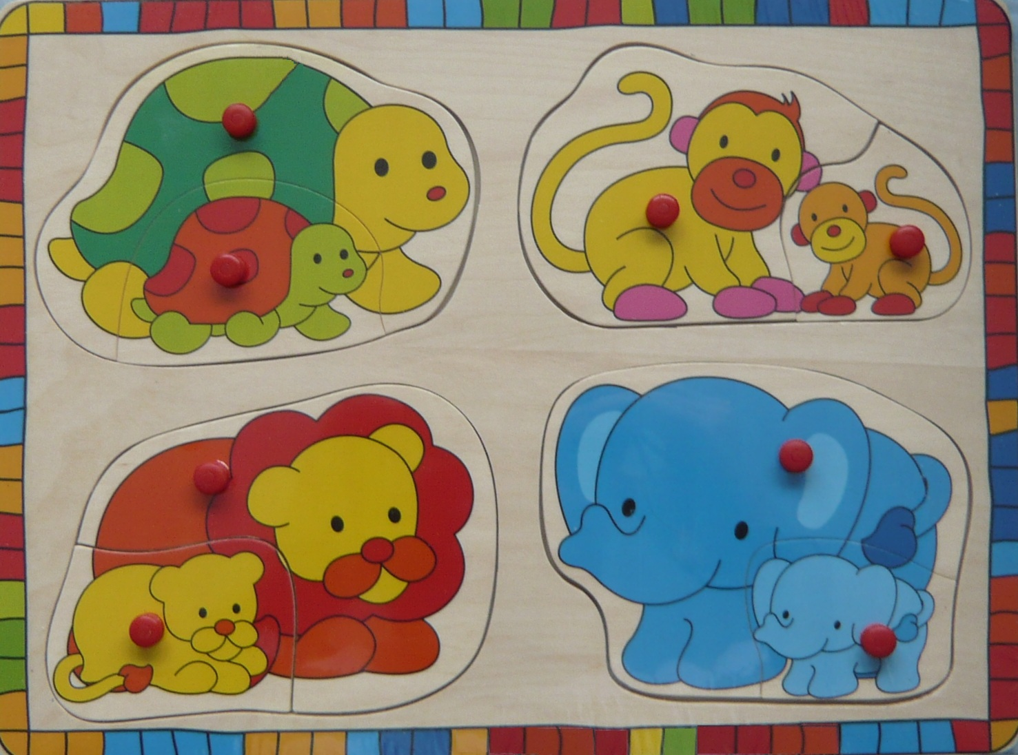 toys 610625d puzzle 8 pi ces bouton animaux sauvages. Black Bedroom Furniture Sets. Home Design Ideas
