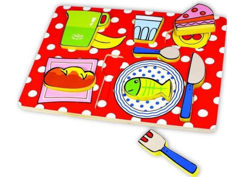vilac 2504 puzzle a encastrer 8 pi ces le plateau repas. Black Bedroom Furniture Sets. Home Design Ideas