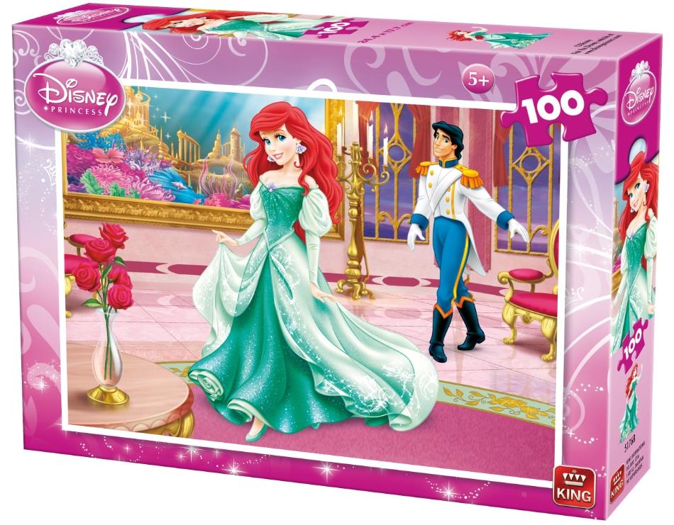 King 5176b puzzle fille avec la petite sir ne 100 pi ces disney - Jeux de ariel et son prince ...