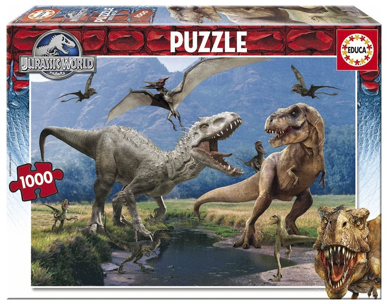 Educa 16342 puzzle dinosaure jurassic world 1000 pi ces adulte - Dinosaure jurassic world ...