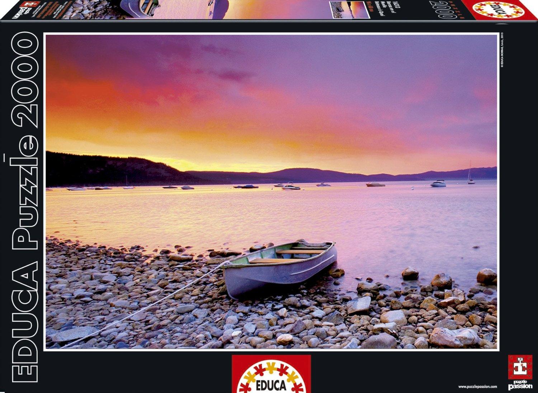 Paysage 2000 destiné educa 16135 puzzle adulte le coucher du soleil 2000 pièces mer