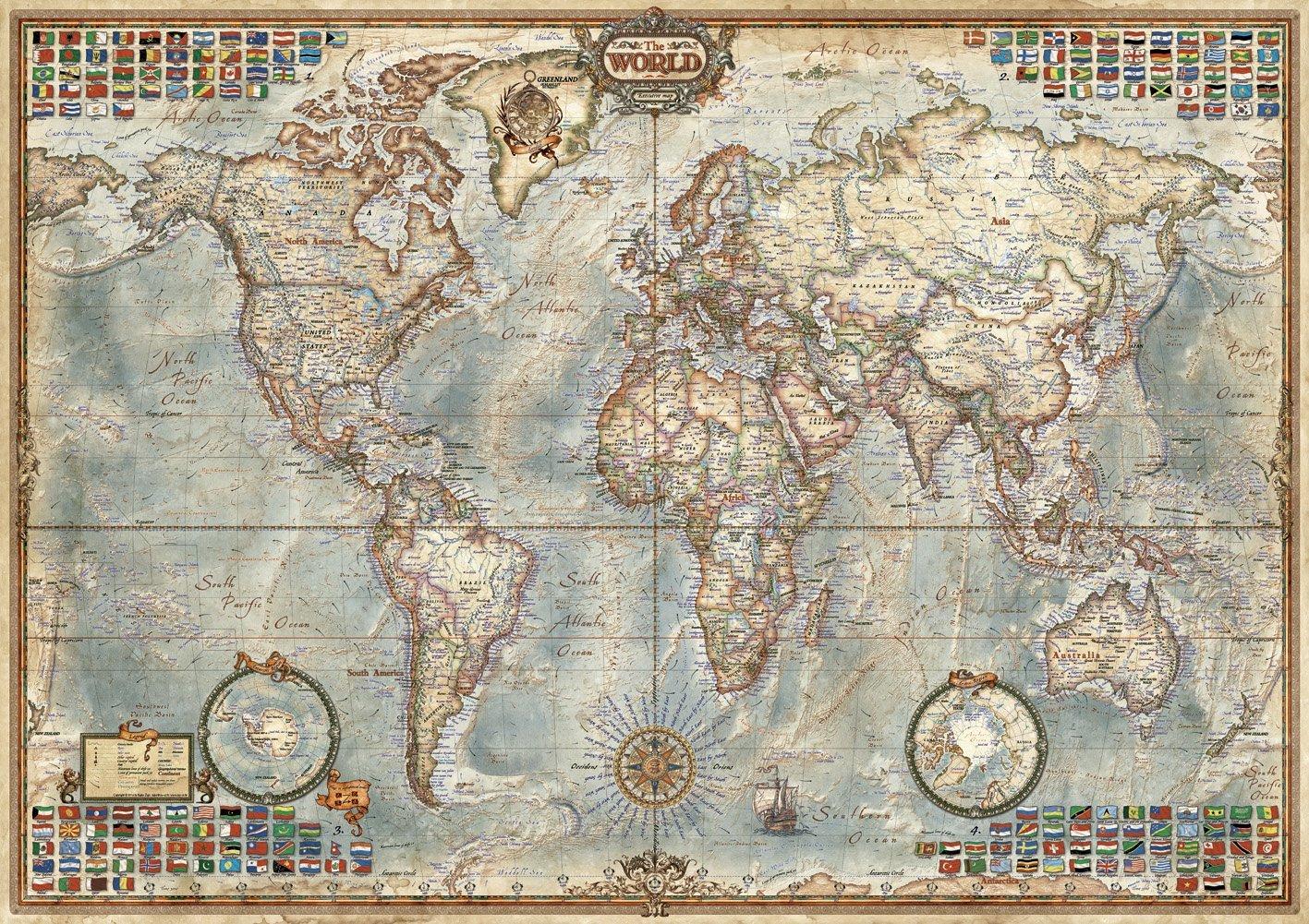 Connu Educa 16005 puzzle 1500 pièces le monde politique adulte AC27