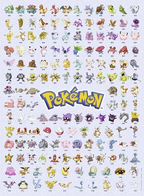 Ravensburger 14871 Puzzle 500 Pièces 151 Premiers Pokemon
