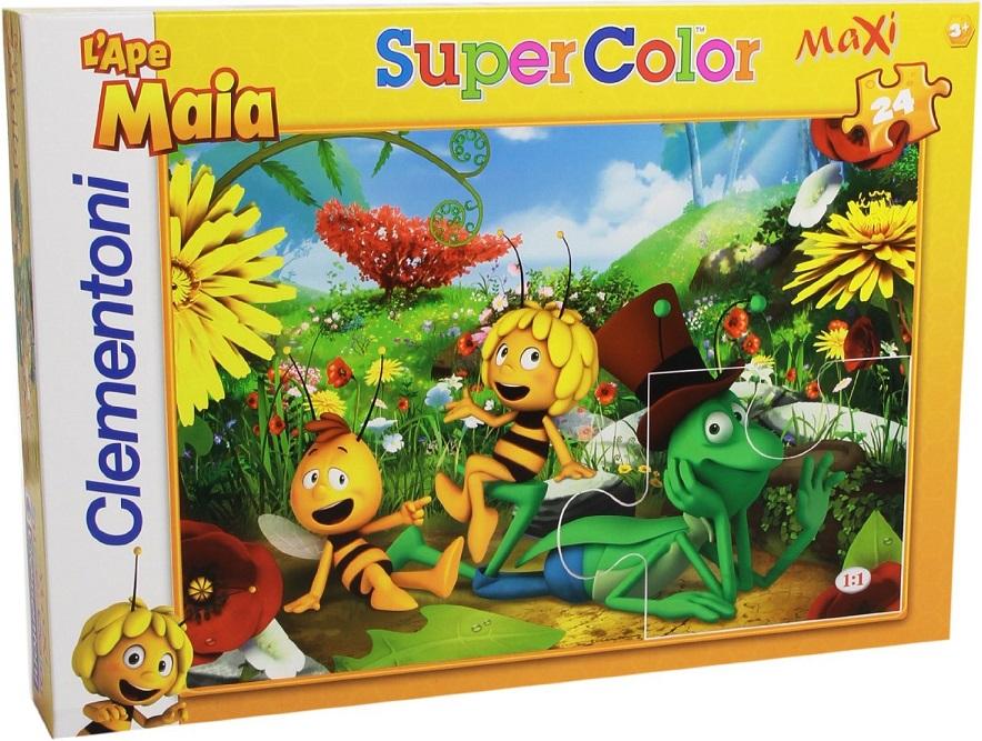 clementoni 24429 puzzle enfant 24 pi ces maya l 39 abeille maxi color. Black Bedroom Furniture Sets. Home Design Ideas