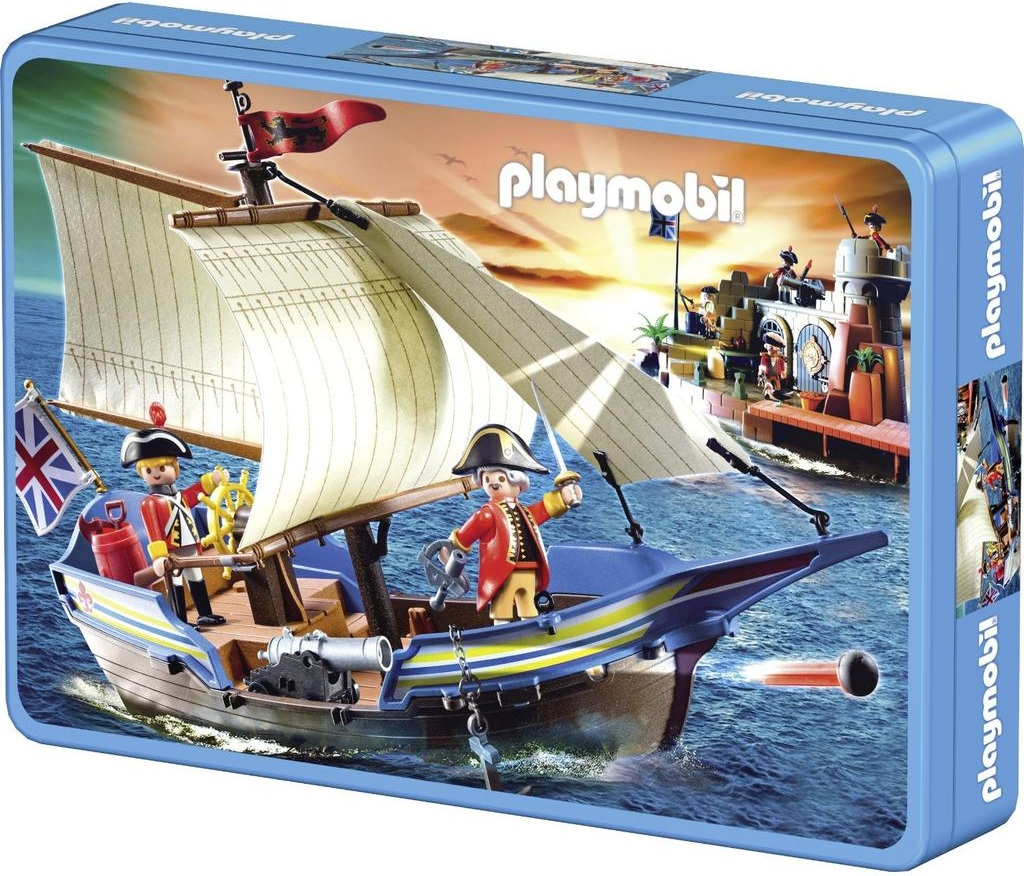 schmidt 56606 puzzle playmobil bateau pirate 60 pices. Black Bedroom Furniture Sets. Home Design Ideas