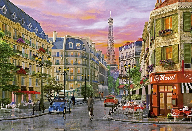 educa 16022 puzzle rue de paris 5000 pi ces tour eiffel. Black Bedroom Furniture Sets. Home Design Ideas