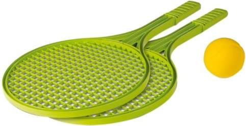Raquettes de tennis en plastique raquettes tennis play - Balle plastique tennis de table ...