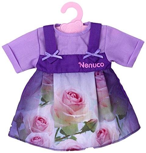 nenuco t16821 habit poup e de 42 cm robe violette avec roses. Black Bedroom Furniture Sets. Home Design Ideas
