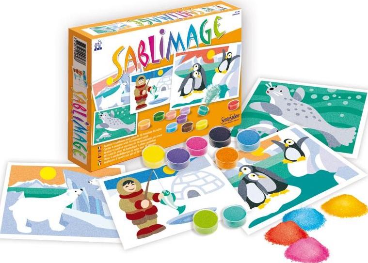 loisir creatif sable colore