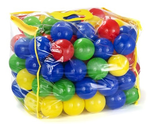 100 balles plastique multicolore for Piscine a balle jouet club