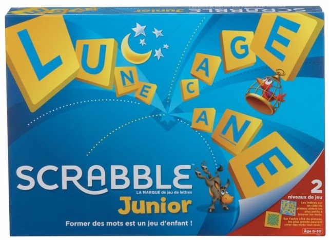 scrabble junior mattel jeu de lettres jeu de r flexion enfant. Black Bedroom Furniture Sets. Home Design Ideas