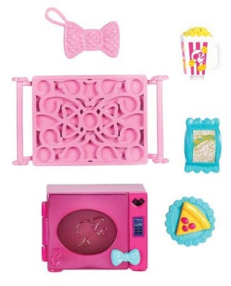 micro ondes et accessoires cuisine poup e barbie mattel. Black Bedroom Furniture Sets. Home Design Ideas