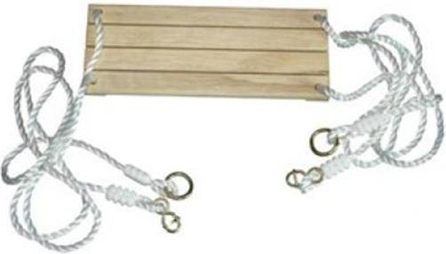 si ge en bois avec cordes pour balan oire accessoires portique. Black Bedroom Furniture Sets. Home Design Ideas