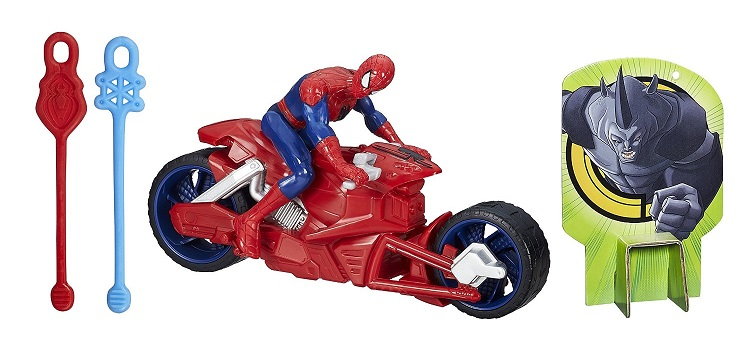 Hasbro b1467 une figurine spider man avec sa moto d - Moto spiderman jeux ...