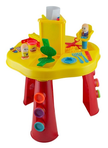 Set cr atif play doh table dactivit s coiffeur gaufres - Table d activite exterieur ...