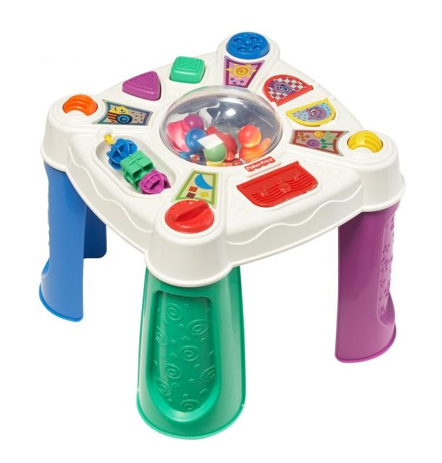 Jouet table dactivit s b b fisher price brillant basics for Pelleteuse jouet exterieur