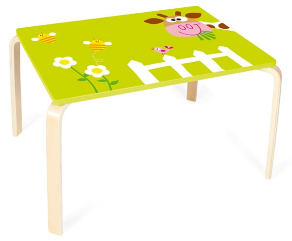 table en bois vache marie meuble enfant scratch europe. Black Bedroom Furniture Sets. Home Design Ideas