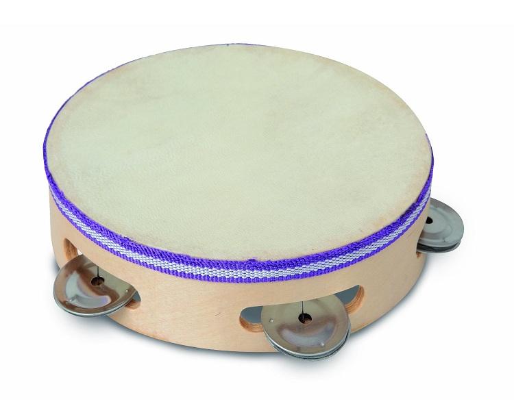Tambourin en bois jouet bontempi tambourin 18 cm jouet for Instruments de musique dax