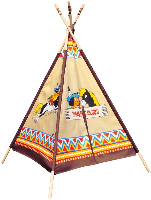 jouet tipi indien motifs yakari tente de jeu enfant knorrtoys. Black Bedroom Furniture Sets. Home Design Ideas