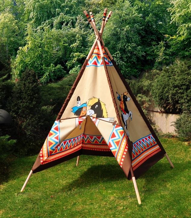 Jouet tipi indien motifs yakari tente de jeu enfant knorrtoys for Tente tipi exterieur