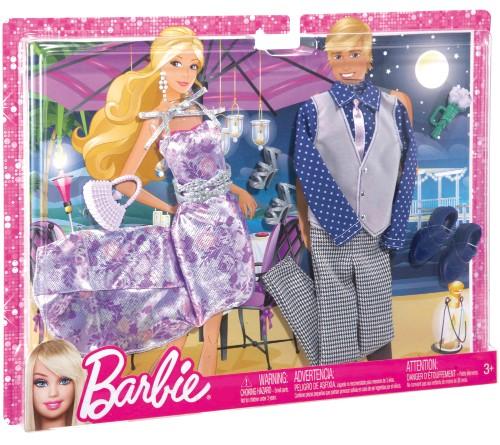 Coffret 2 tenues barbie et ken d ner au clair de lune x7863 - Image barbie et ken ...