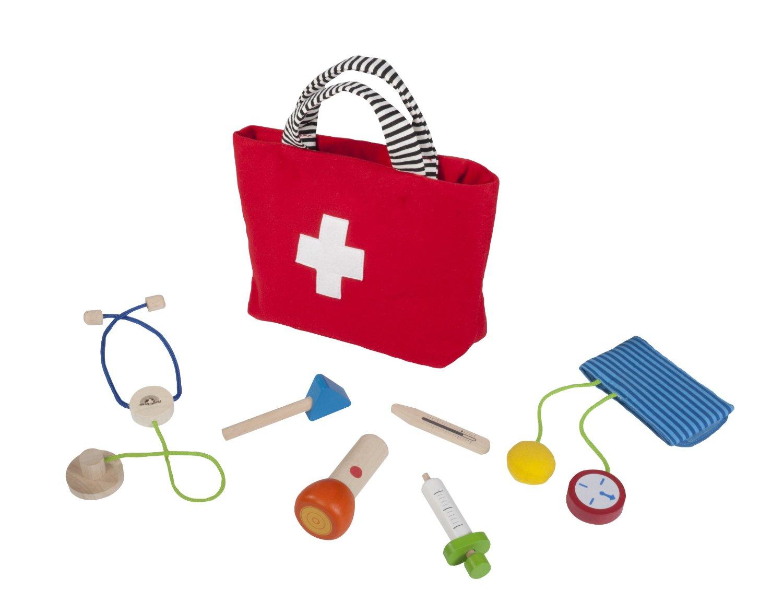 Trousse docteur et accessoires en bois jouet imitation for Pelleteuse jouet exterieur