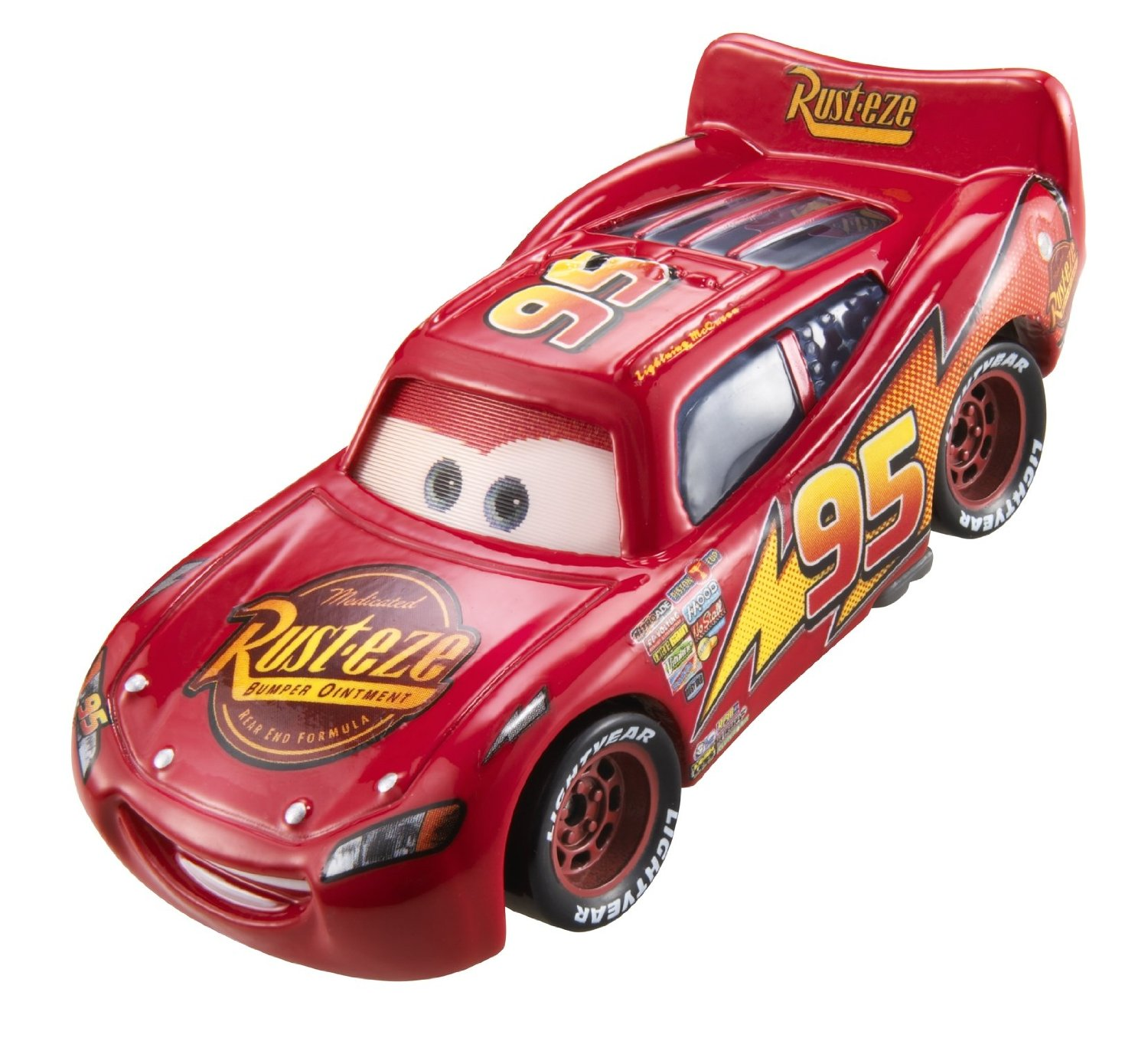 mattel r1345 voiture rouge cars flash mcqueen yeux lenticulaire. Black Bedroom Furniture Sets. Home Design Ideas