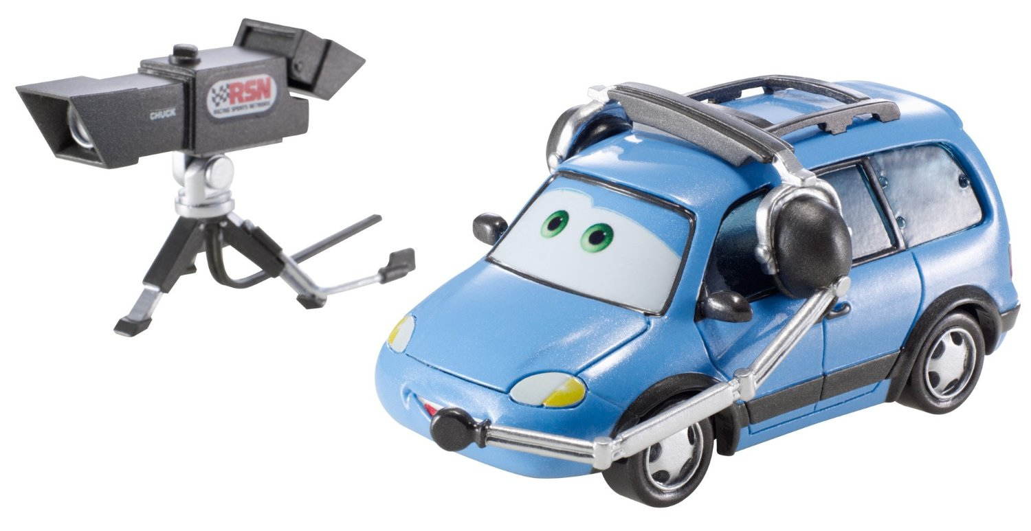 mattel bdw69 chuck le cameraman voiture cars 2 v hicule de luxe. Black Bedroom Furniture Sets. Home Design Ideas