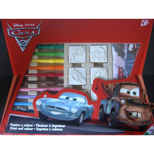 article coffret 7 tampons a imprimer cars 2 disney multiprint 4823 5520