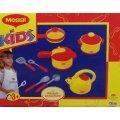 COFFRET DINETTE MAGGI 12 PIECES - CASSEROLES EN PLASTIQUE - KIDS - 47131456 - JEU IMITATION CUISINE