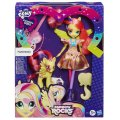 COFFRET POUPEE + PONEY FLUTTERSHY - RAINBOW ROCKS - MY LITTLE PONY EQUESTRIA GIRLS - HASBRO - A9886