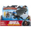 DRAGONS HICCUP & TOOTHLESS - DRAGON NOIR ET JAUNE AVEC SON DRESSEUR - DRAGONS DREAM WORKS - SPIN MASTER - 20086699