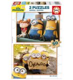 2 PUZZLES MINIONS 50 PIECES - EDUCA - 16819
