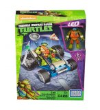 BUGGY A PIZZA DE LEONARDO - TORTUES NINJA - MEGA BLOKS - DPF62 - JEU DE CONSTRUCTION