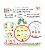 DOMINOS + LOTO + PUZZLE LA CHENILLE QUI FAIT DE TROUS - UNIVERSITY GAMES - 08129