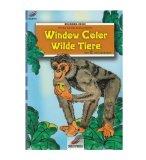 LIVRE WINDOW COLOR - ANIMAUX - SINGE - MOTIF PEINTURE POUR FENETRE