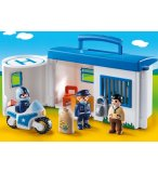 PLAYMOBIL 1.2.3 9382 COMMISSARIAT DE POLICE TRANSPORTABLE